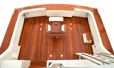 Picture: Cockpit Deck For A Bertram Yacht